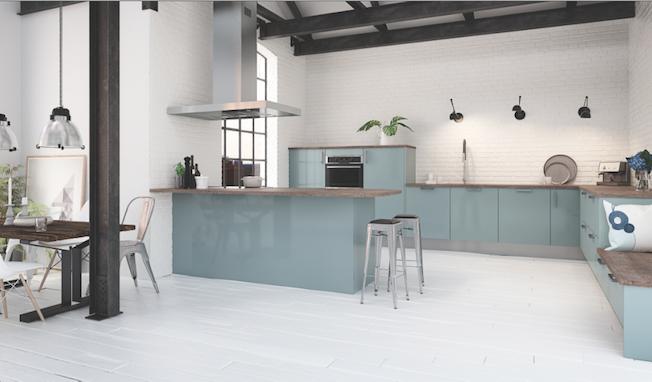 cuisine bleu pale vert menthe quelle couleur choisir - Quelle Couleur Choisir Pour Une Cuisine