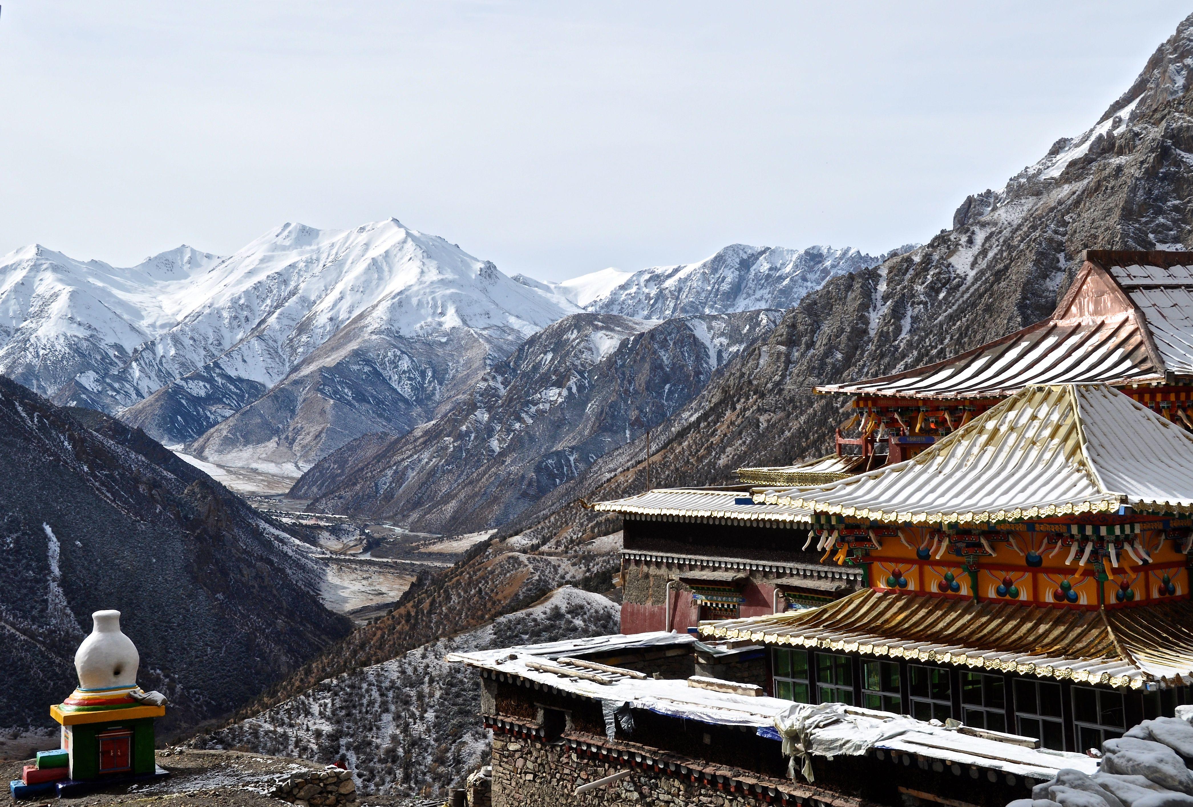 Litang Lamasary Tibetan Buddhist Monk Monastery with Photo ...