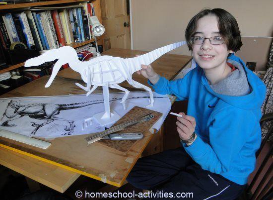 Build a Velociraptor dinosaur model with paper mache clay. Fun ...