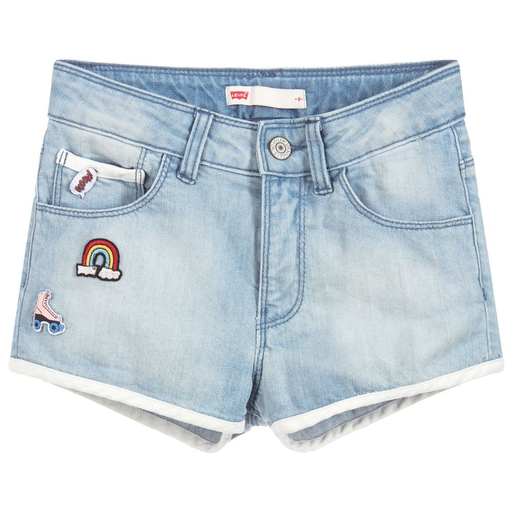 d288275979 Girls Blue Denim Shorts | Blue denim, Shorts and Girls