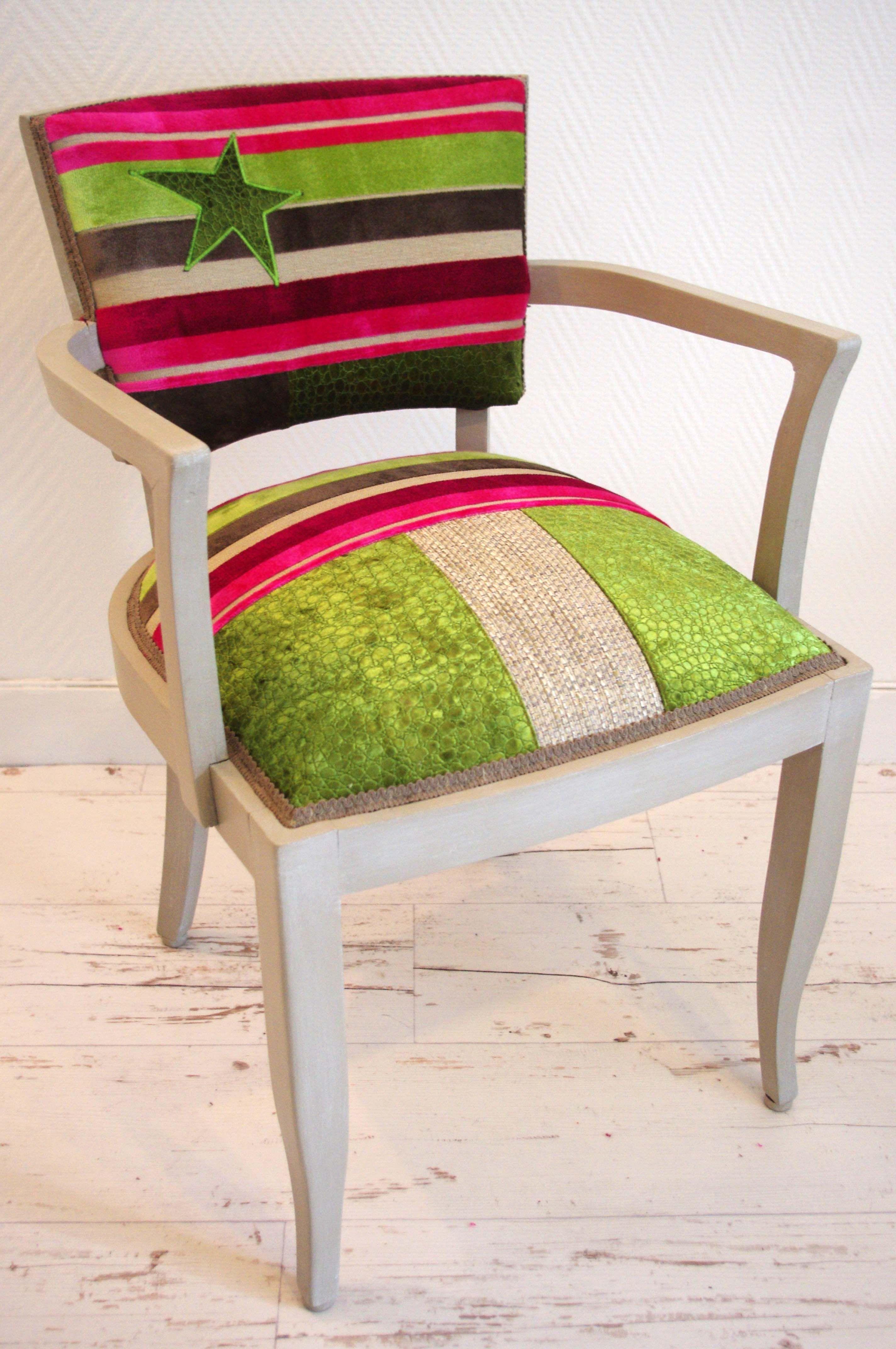 Fauteuil bridge en patchwork Upholstery Pinterest