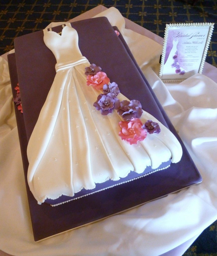 Sophisticakes bridal shower wedding dress cake for Dress for wedding shower