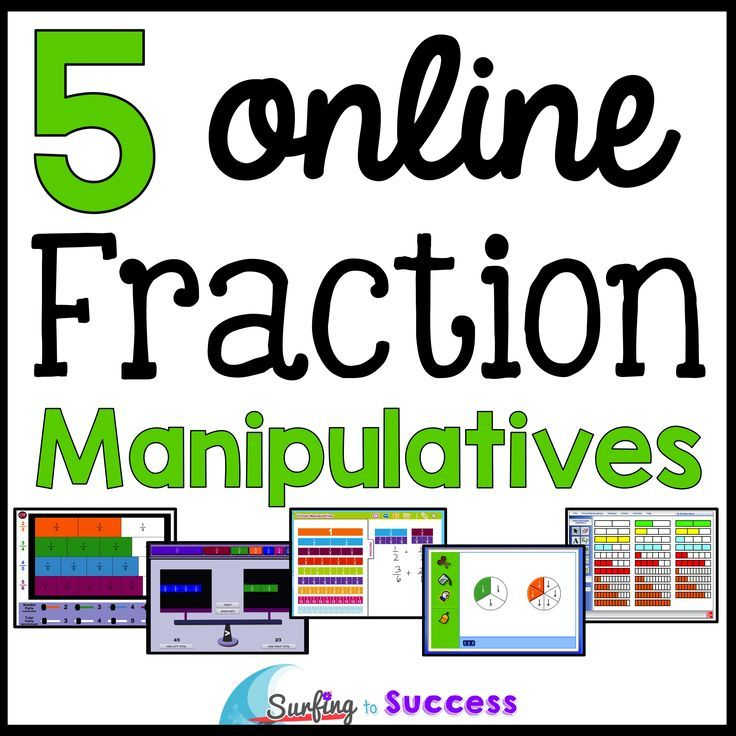 5 Online Fraction Manipulatives | Math, Math fractions and ...