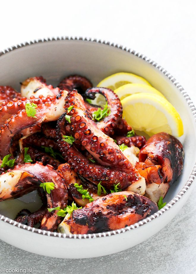 Easy grilled octopus recipe inspirationspotlight recipes easy grilled octopus recipe tender lightly seasoned and charred octopus that tastes amazing a must try for seafood lovers forumfinder Image collections