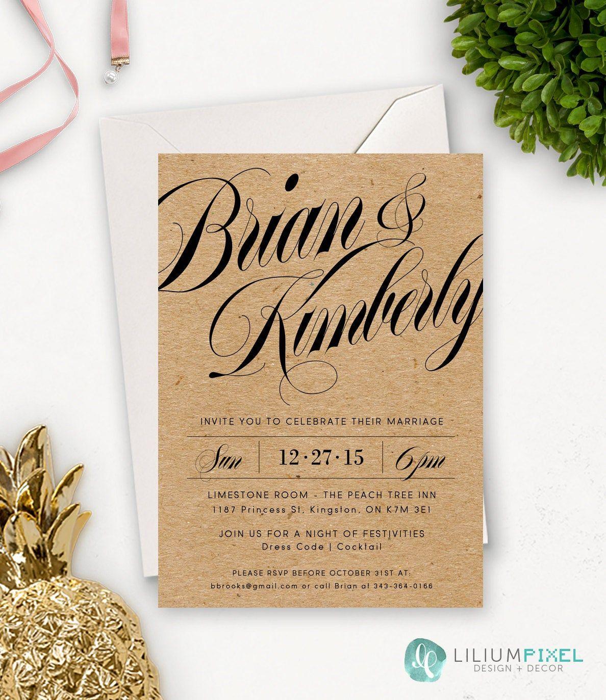 Top 100+ Wedding Invitations Best of Rustic Wedding In