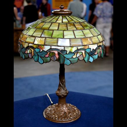 Duffner And Kimberly Leaded Glass Table Lamp Antiques Roadshow