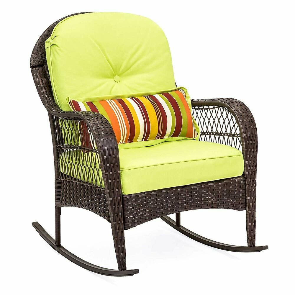 Garden Rocking Chair Wicker Rocker Seat Outdoor Patio Furniture Relax Porch Bestchoiceproducts Wicker Rocking Chair Outdoor Wicker Rocking Chairs Patio Chairs