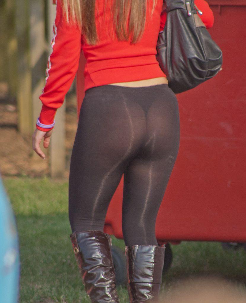 See through leggings and thongs