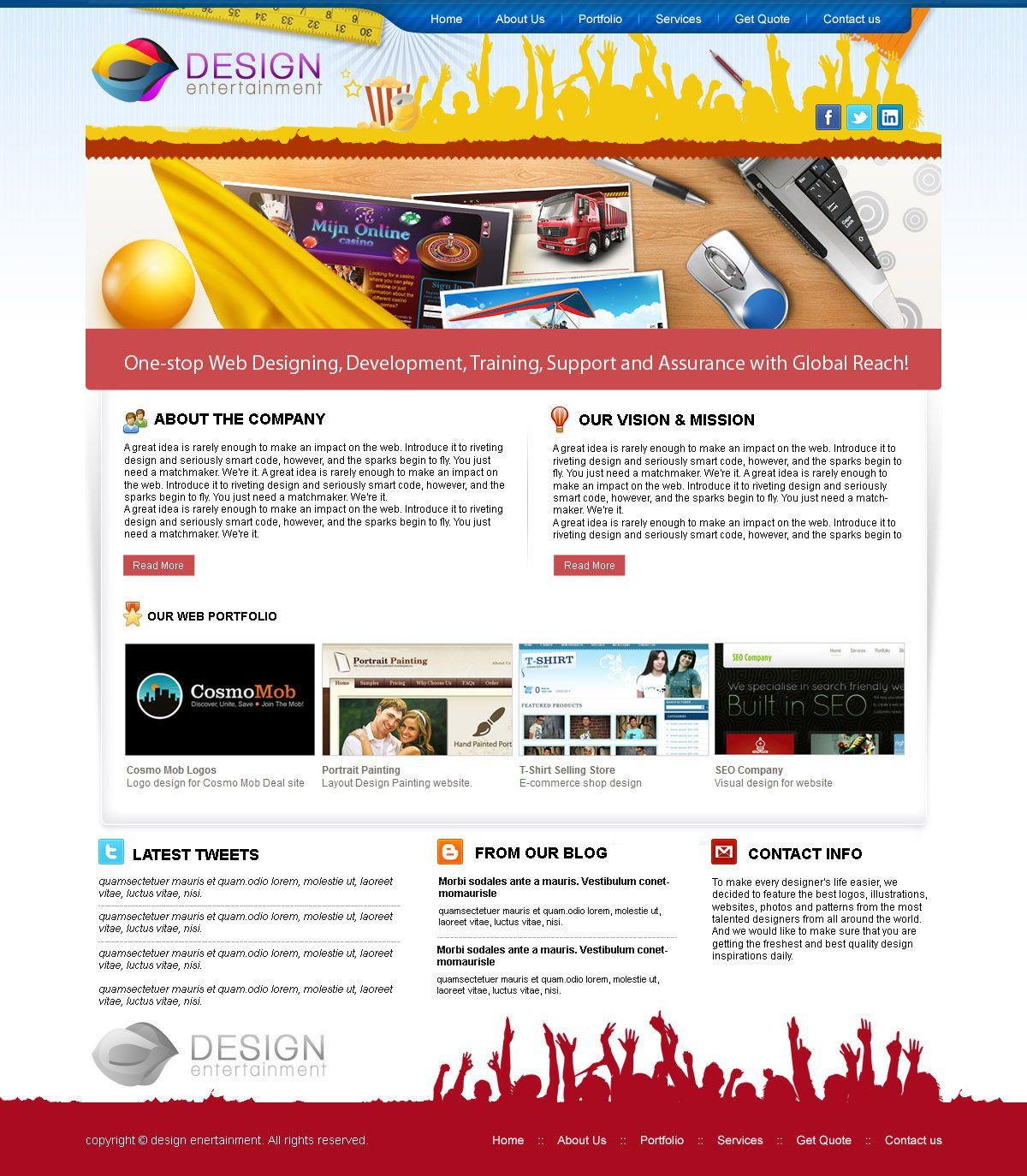 Web Design Company PSD+XHTML Template | Design Inspiration ...