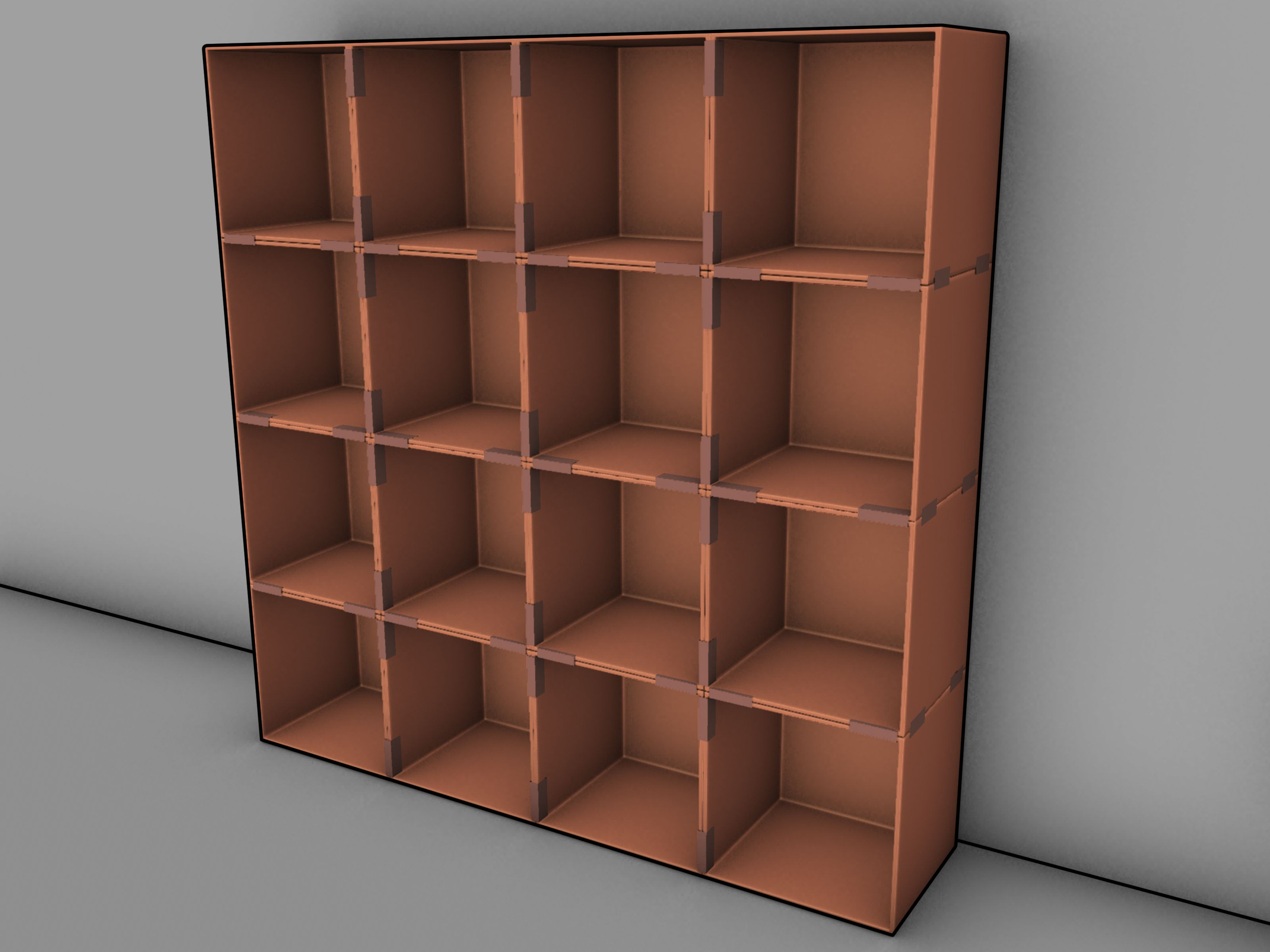 shelves Cardboard box storage