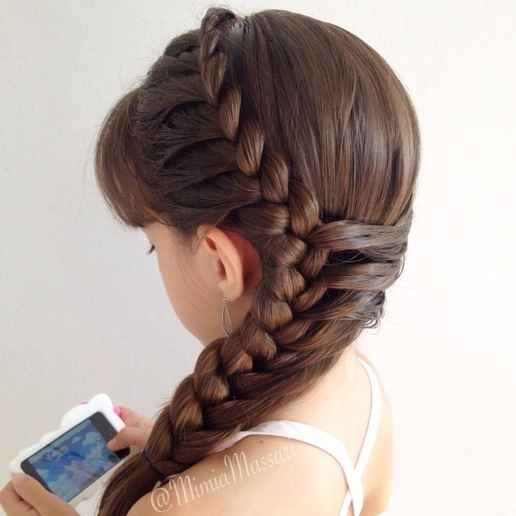 One side too French braid switch sides at bottoms
