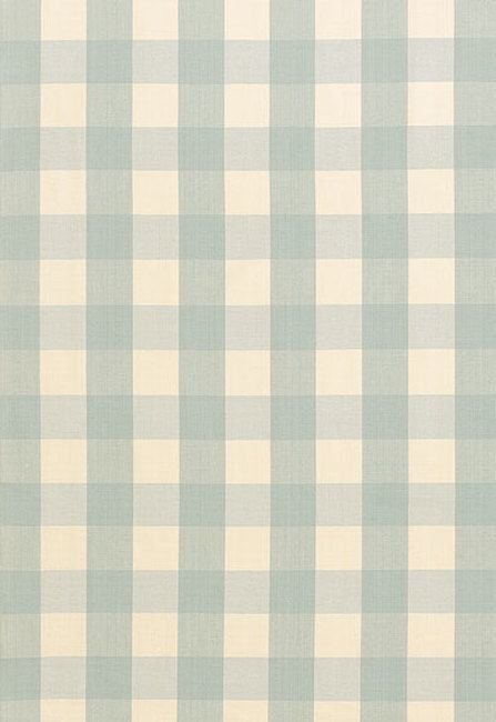 Camden Cotton Check Aqua 63037 by Schumacher Fabric