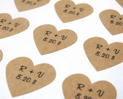 Custom Wedding Initials & Date Stickers