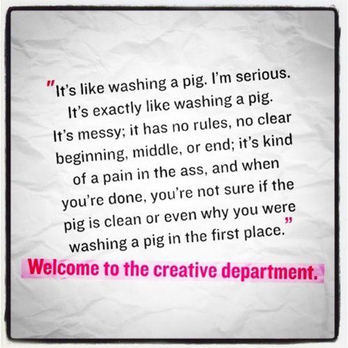 Washing a pig.