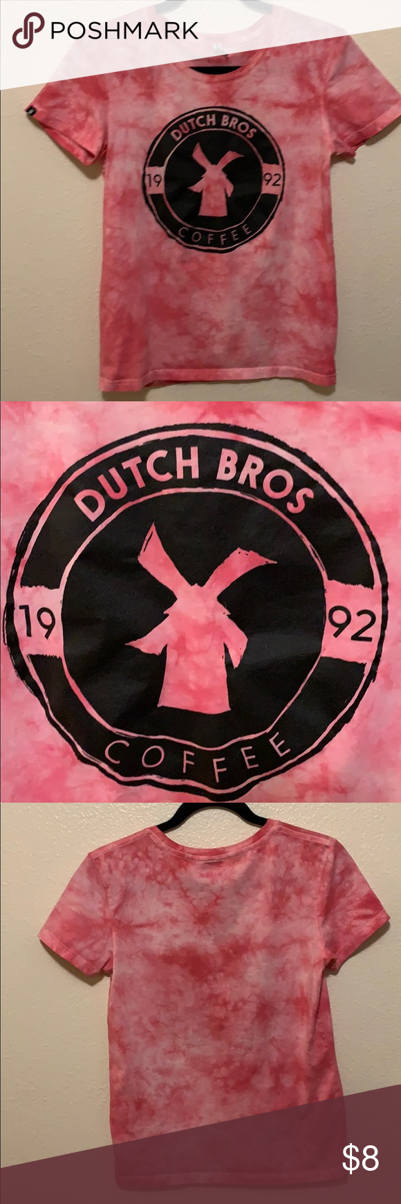 Women's Dutch Bros pink the dye T-Shirt #dutchbros I just added this listing on Poshmark: Women's Dutch Bros pink the dye T-Shirt. #shopmycloset #poshmark #fashion #shopping #style #forsale #Dutch Bros #Tops #dutchbros