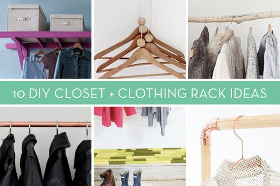 10 Brilliant Non Closet Clothing Storage Solutions You Can Make Yourself Clothes Closet How To Clean Copper Diy Closet