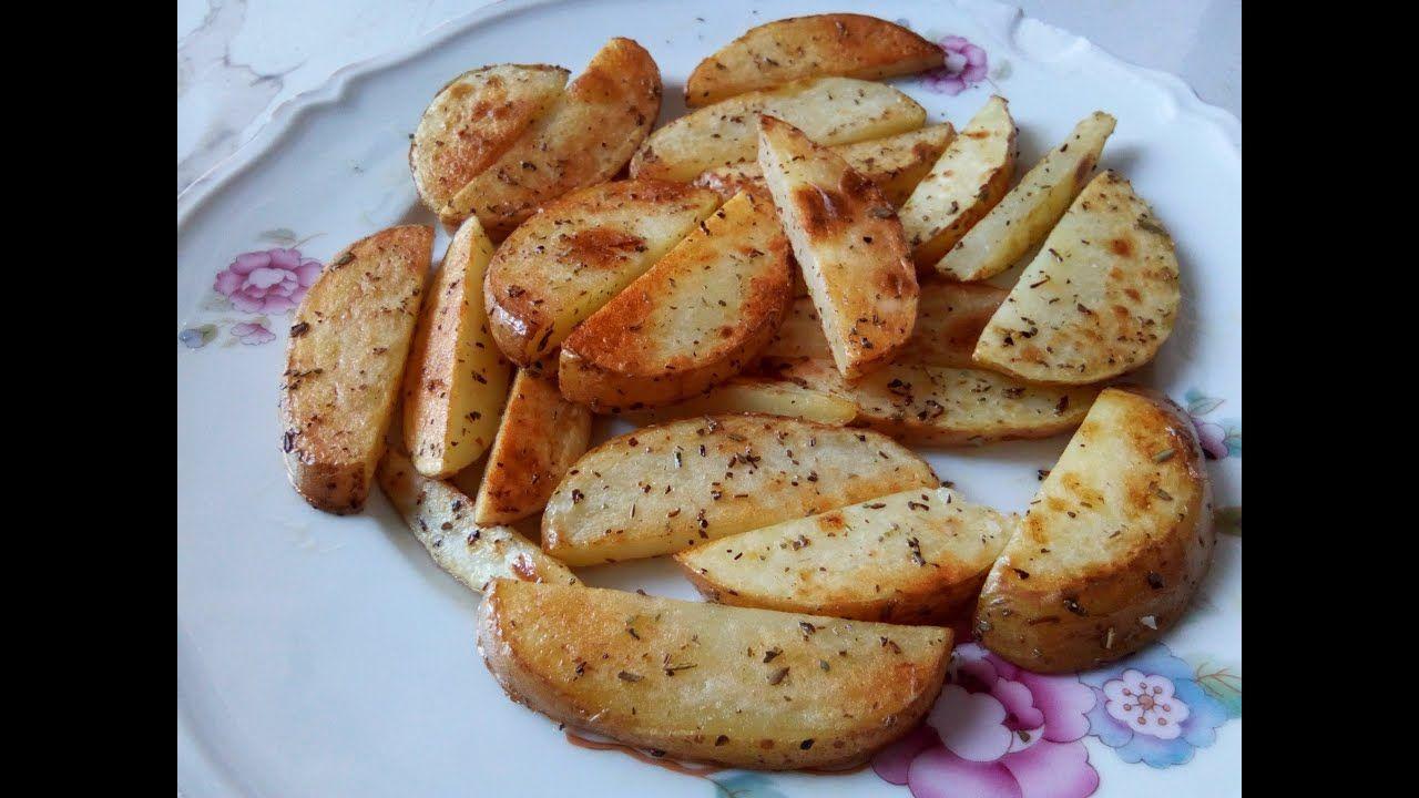 طريقة عمل بطاطس ودجز مثل المطاعم مقرمشة وذهبية Potato Wedges Food Breakfast Potatoes