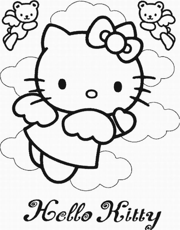 Coloring Pages Online Hello Kitty