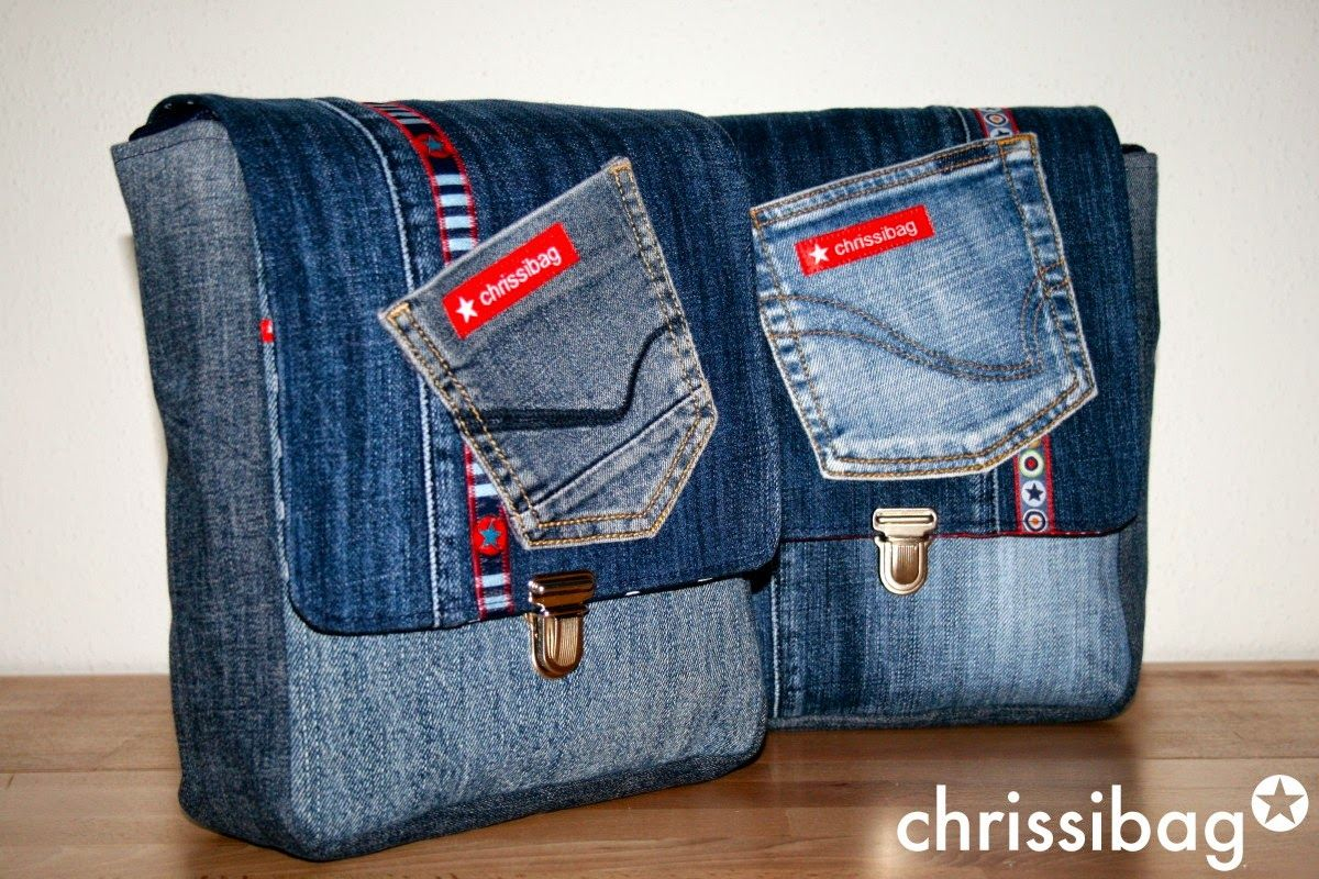 taschen aus alten jeans bags made from old pairs of jeans upcycling upcyclingjanuary2015. Black Bedroom Furniture Sets. Home Design Ideas