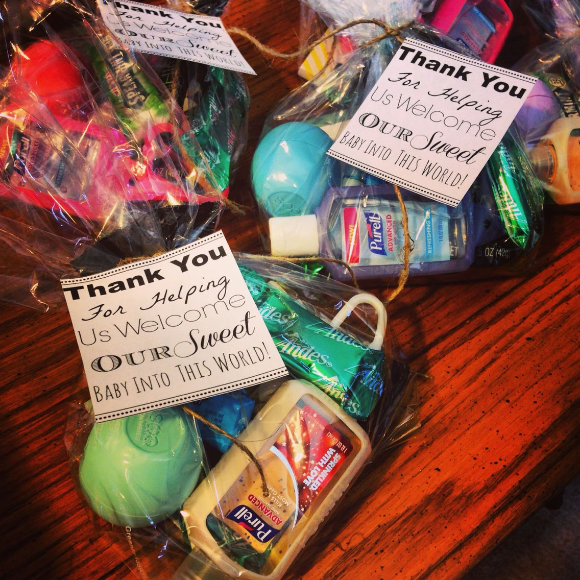 Thank You Goodie bags for labor and delivery nurses | Baby Udvar ...