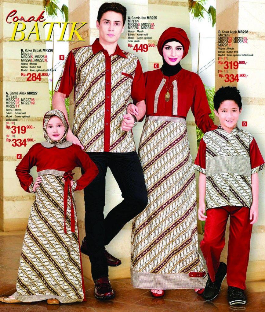 Model Baju Batik Terbaru Kerja Kombinasi Keluarga Muslim: Baju Muslim Batik Set Keluarga By Mirzani