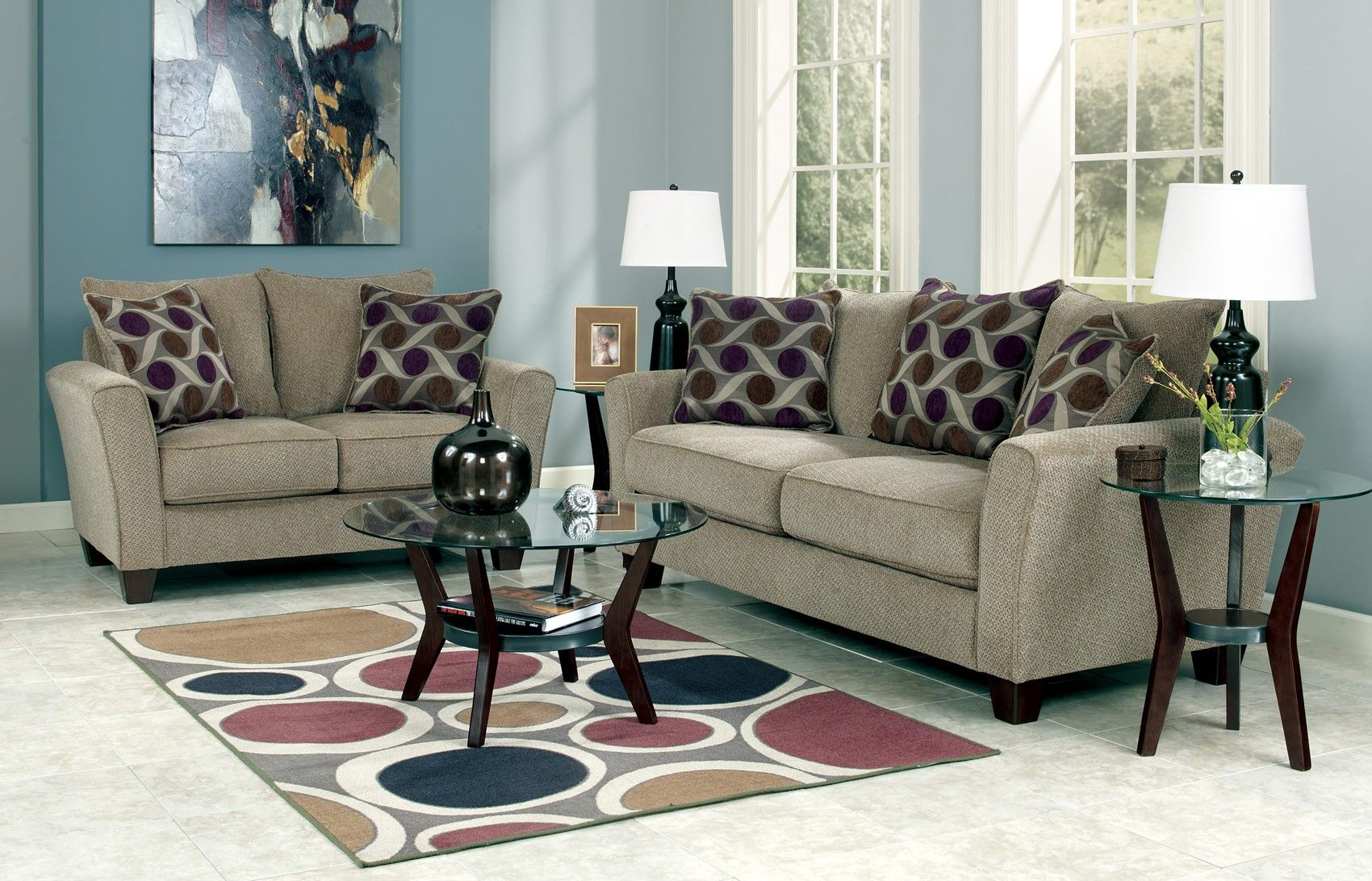Great Trinsic Pebble Sofa And Loveseat Set 13301   Ashley Furniture