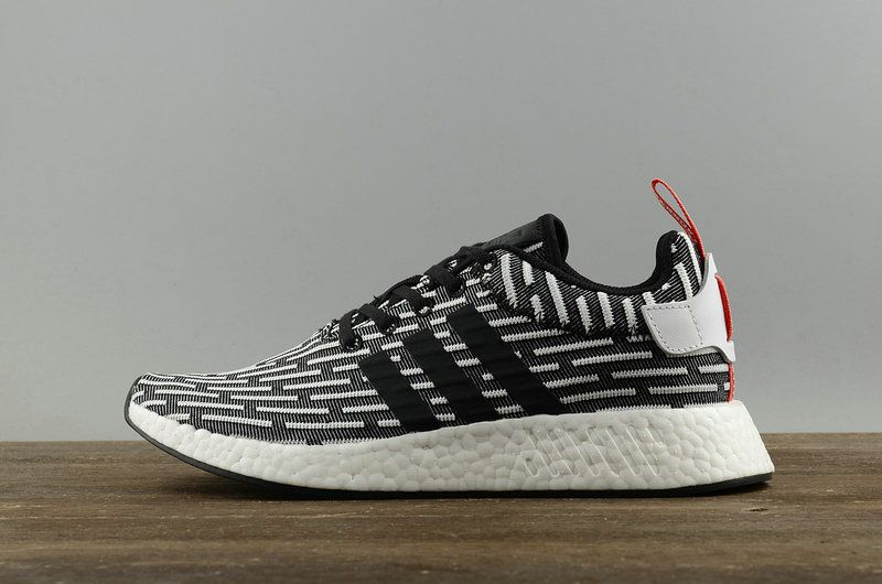 a1b98518e 2018 Buy Men ADIDAS NMD R2 PK CORE BLACK White BB2951 Shoe