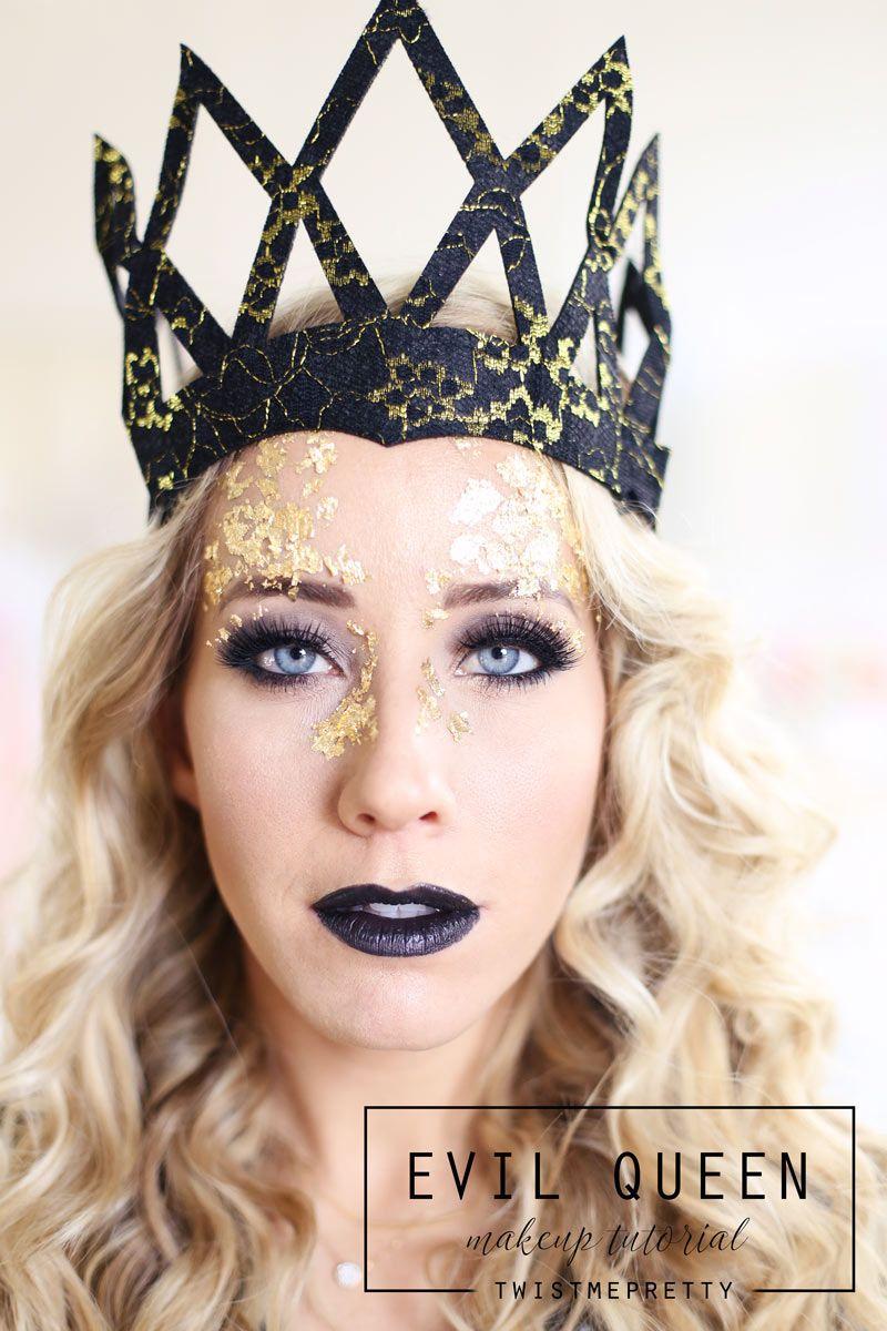 Evil Queen Makeup Hair Tutorial Queen Ravenna Twist Me Pretty Queen Makeup Evil Queen Makeup Cool Halloween Makeup
