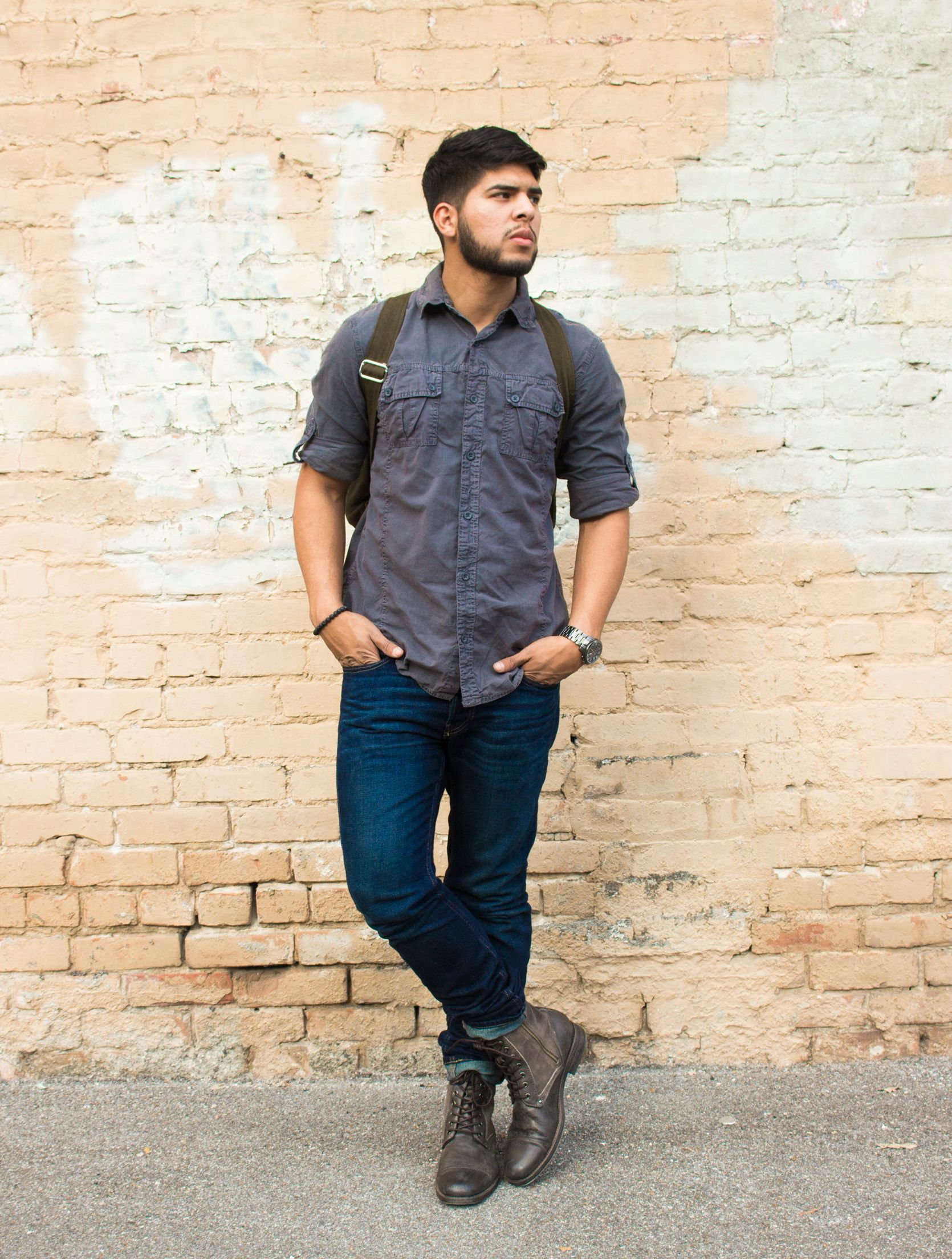 Mens casual outfit for urban