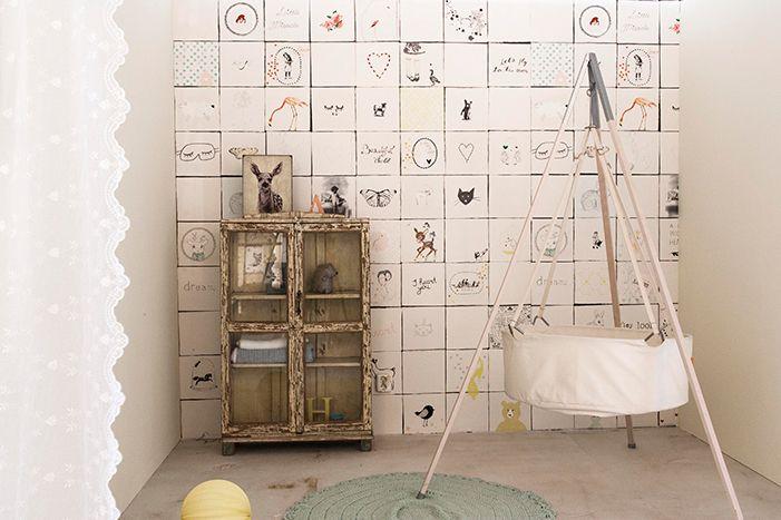Behang Babykamer Paars : Oz in kids rooms babykamer