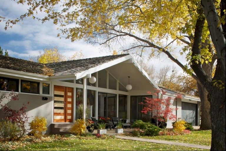 40 Best Mid Century House Ideas Look A More Modern Ranch House Remodel Ranch Style Homes House Exterior