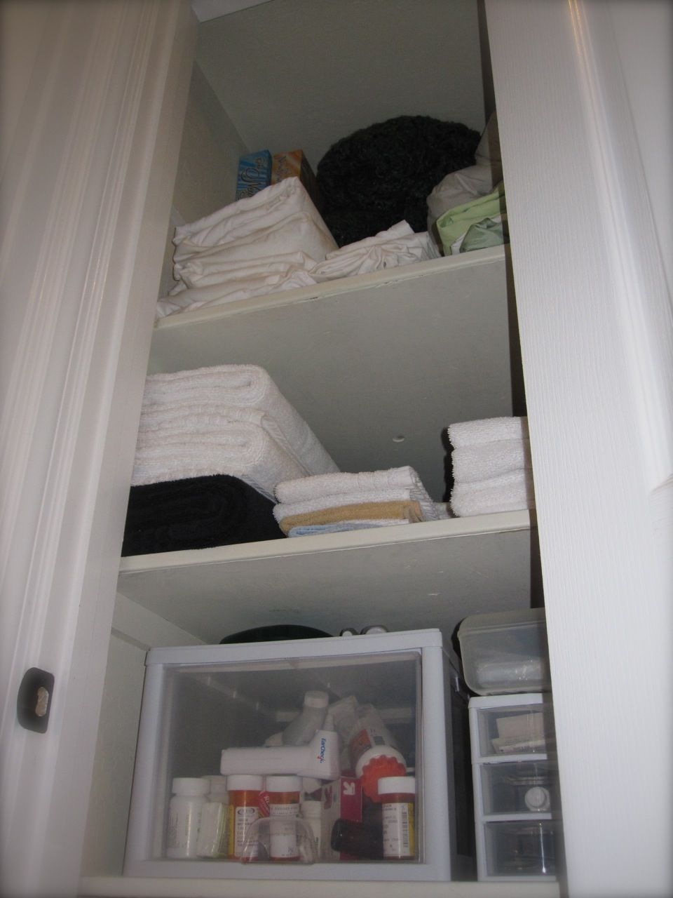How To Organize Deep Shelves Deep Closet Linen Closet