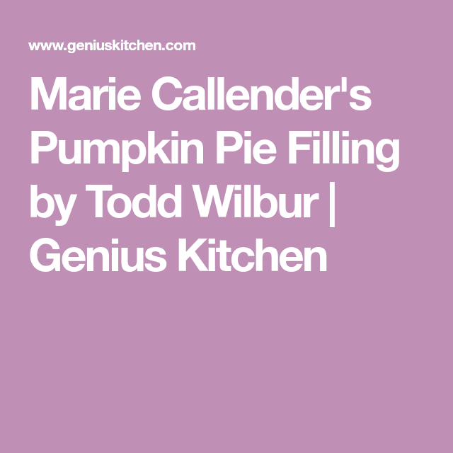 Recipes Easy Dinners And Meal Ideas Food Com Recipe Pumpkin Pie Filling Recipes Marie Callender S