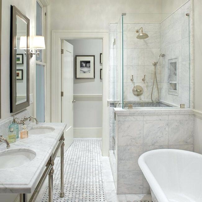 Basketweave Tile Bathroom Marble Bathroom With Awesome Design