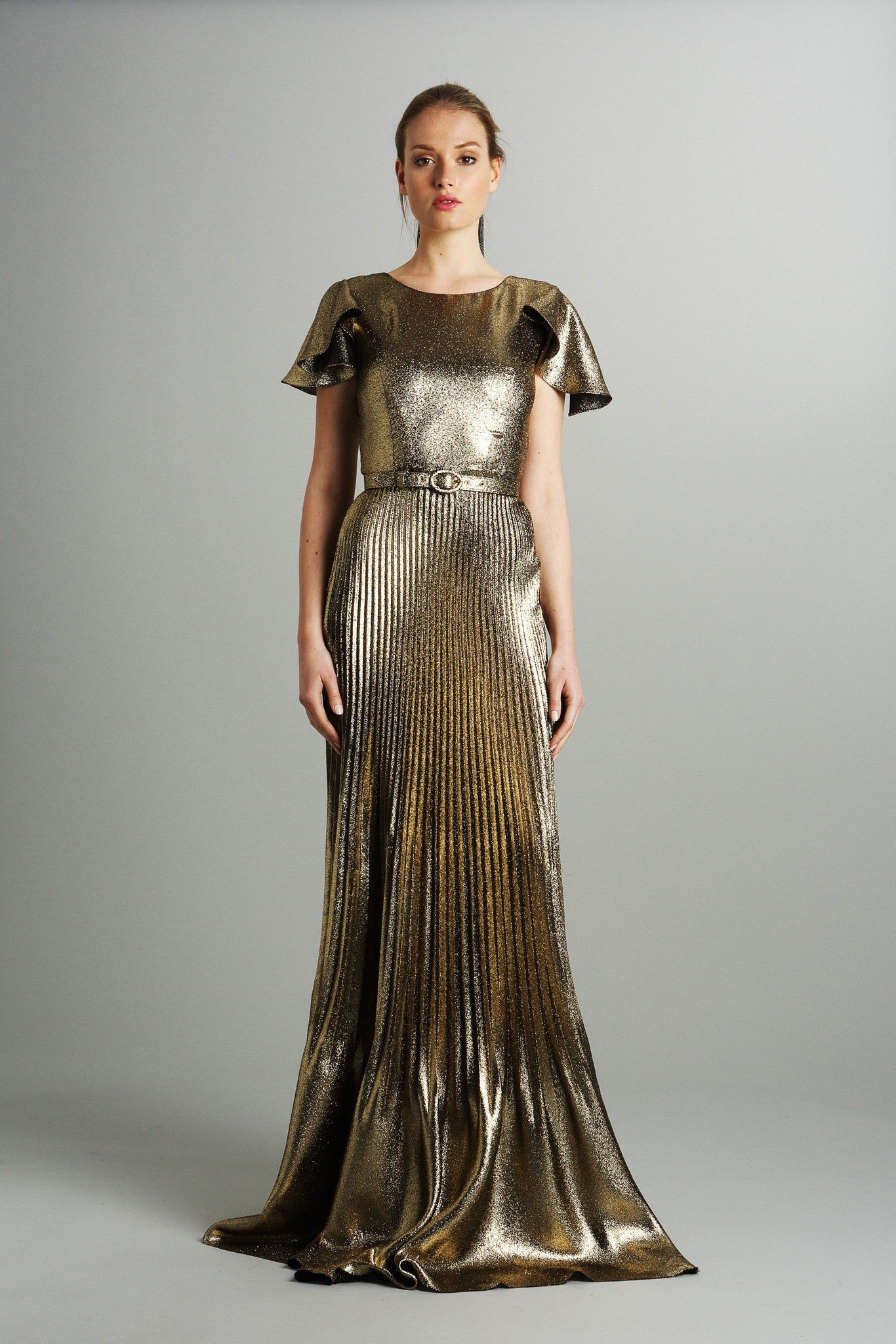 Luisa beccaria prefall fashion show formal gowns model