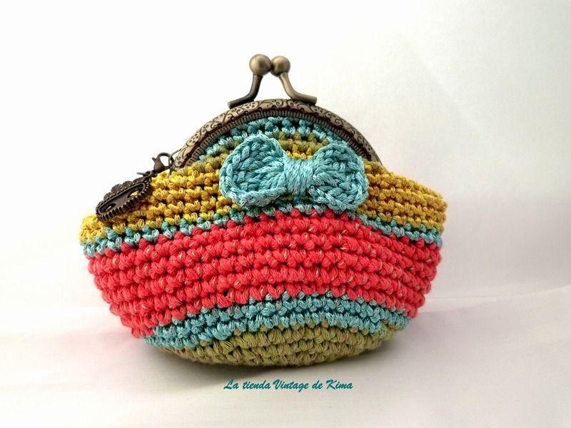 Monedero ganchillo con boquilla   Crochet