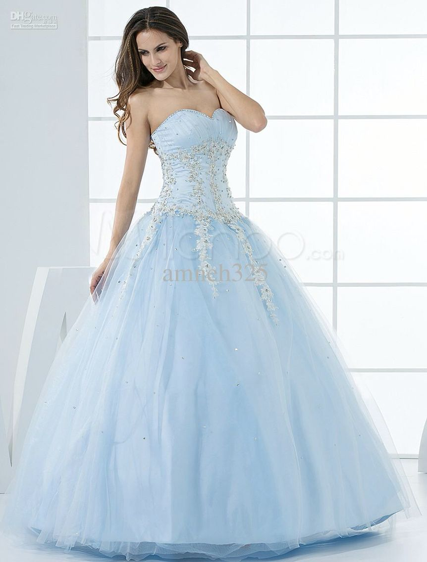 b983eaf614 Beautiful periwinkle blue ball gown