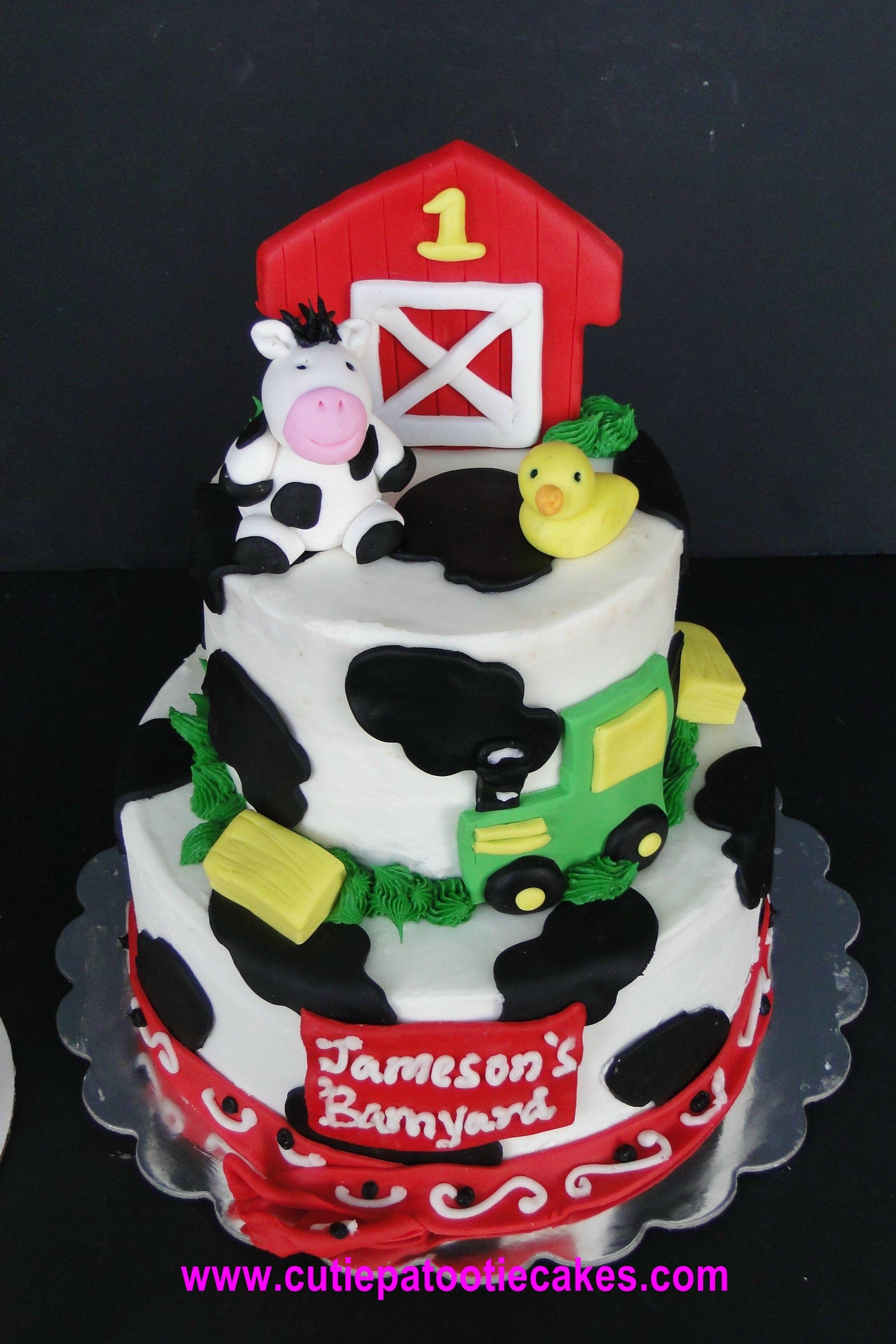 Barnyard Birthday Cake Cakes Of Mine