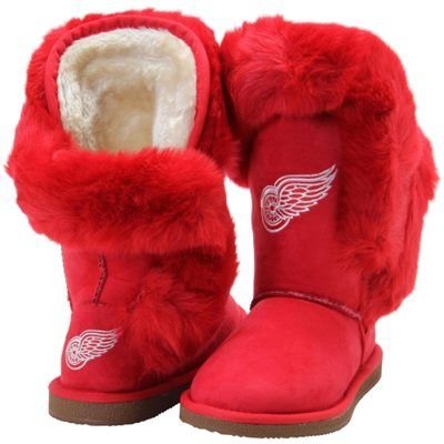 reputable site bc3fd 43e4c Women's Detroit Red Wings Cuce Red Champions Boots | MY NHL ...