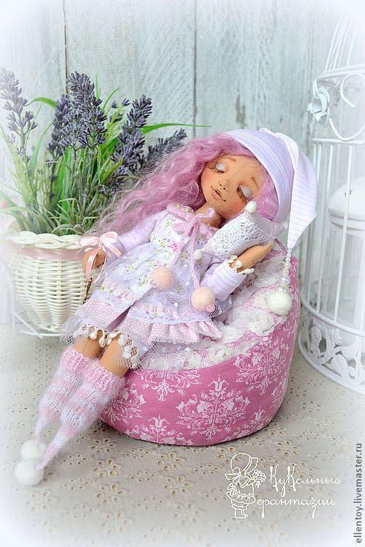 Коллекционные куклы ручной работы. Заказать Лавандовая Сонюшка, текстильная кукла. Елена Негороженко. Ярмарка Мастеров. Лаванда, подарок девушке