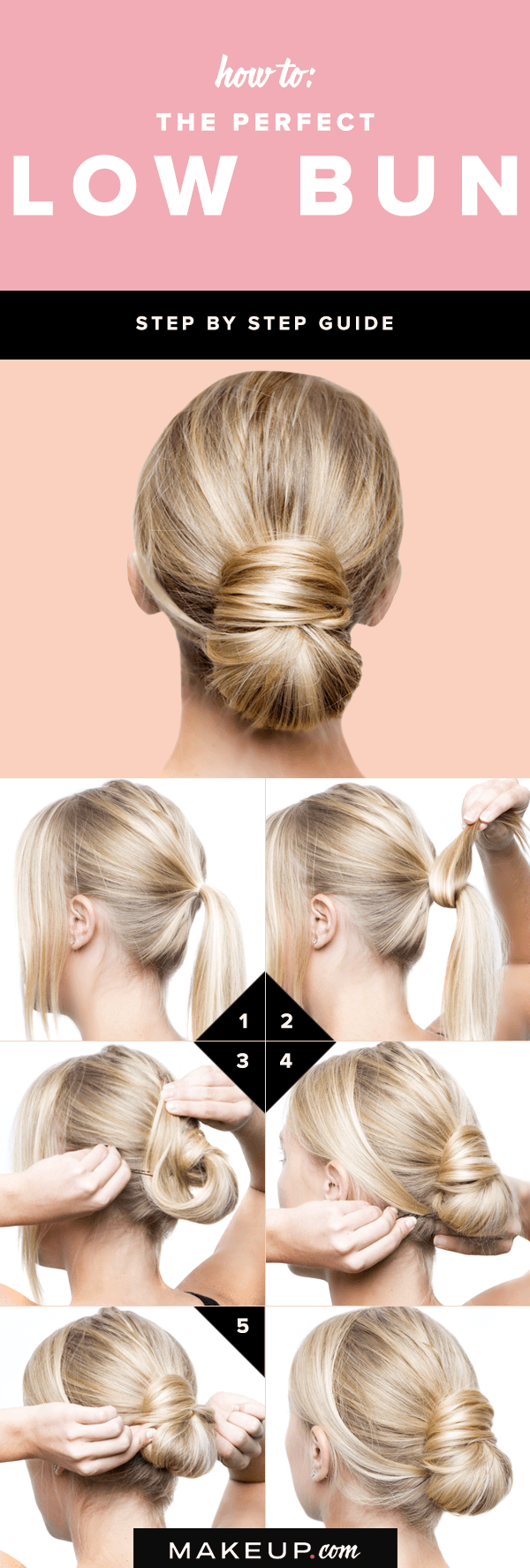 steps to create the perfect low bun beauty pinterest low