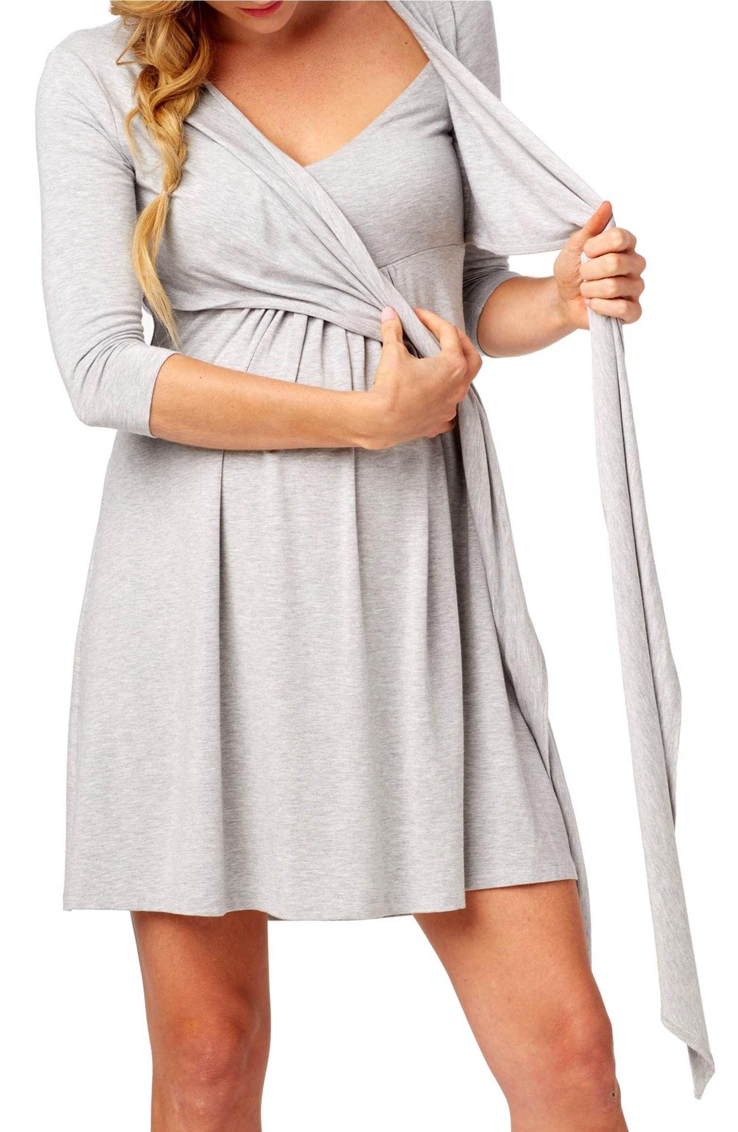 c9e7e435026 Main Image - Rosie Pope Maternity Nursing Wrap Dress