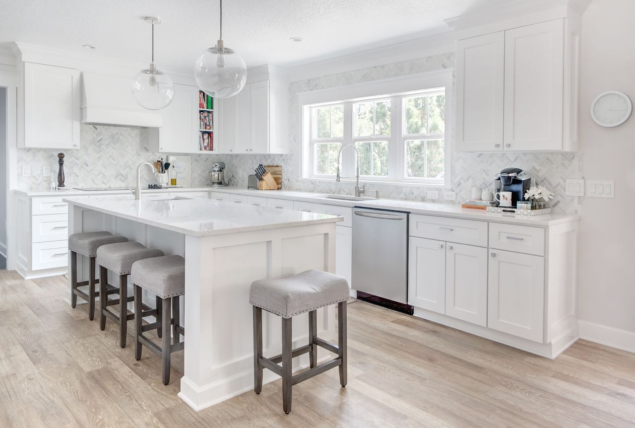 Great The Kitchen: Roseland Project    White And Grey Kitchen, White Kitchen  Cabinets,