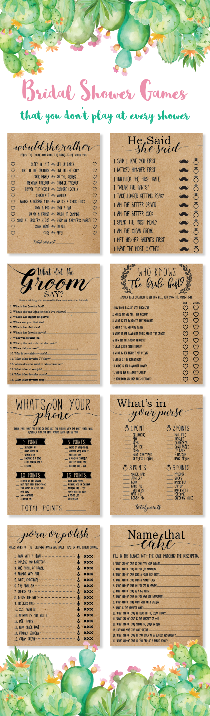 a different take on bridal shower games liven up your next shower with our unique