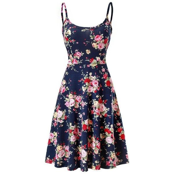 72227deb3dd7 Fuerfits Women Summer Sleeveless Beach Casual Midi Flared Floral Tank...  ( 17)