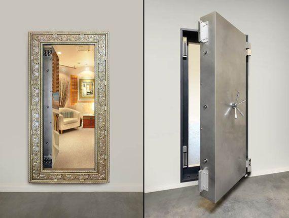 versteckt - Geheimraum hinter Spiegel Geheimtüren Pinterest