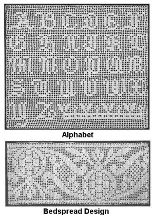 Free Filet Crochet Charts | Filet Crochet with Instructions No. 2 ...
