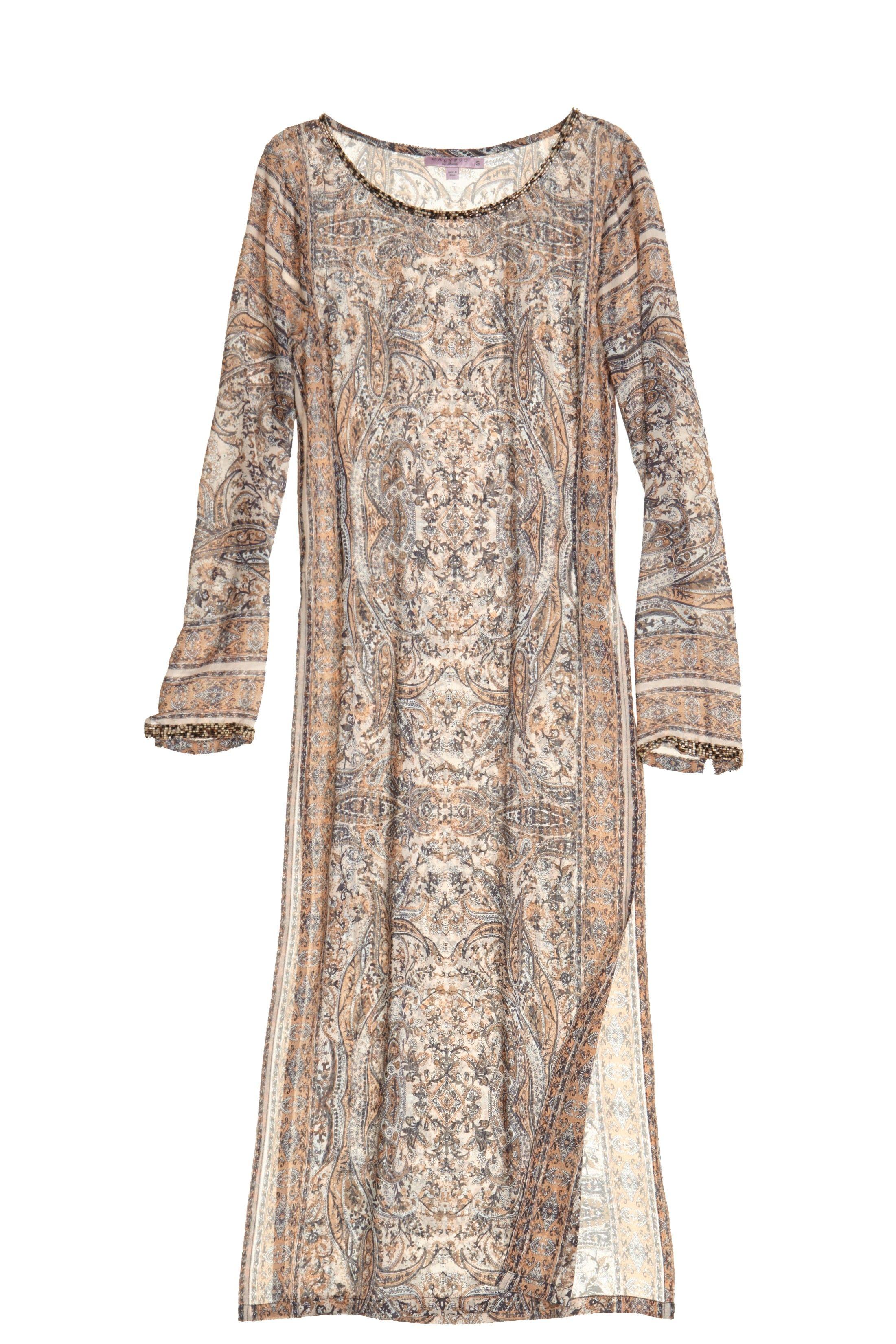 Printed Silk Tunic Dress Silk Tunic Dress