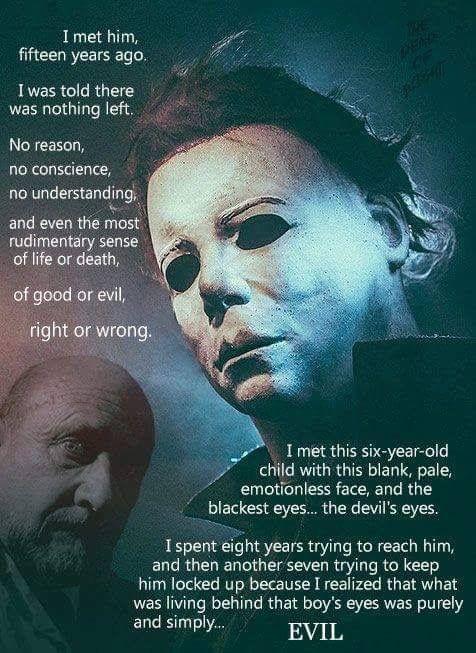 Classic Horror Movie Quotes: Halloween Michael Meyers