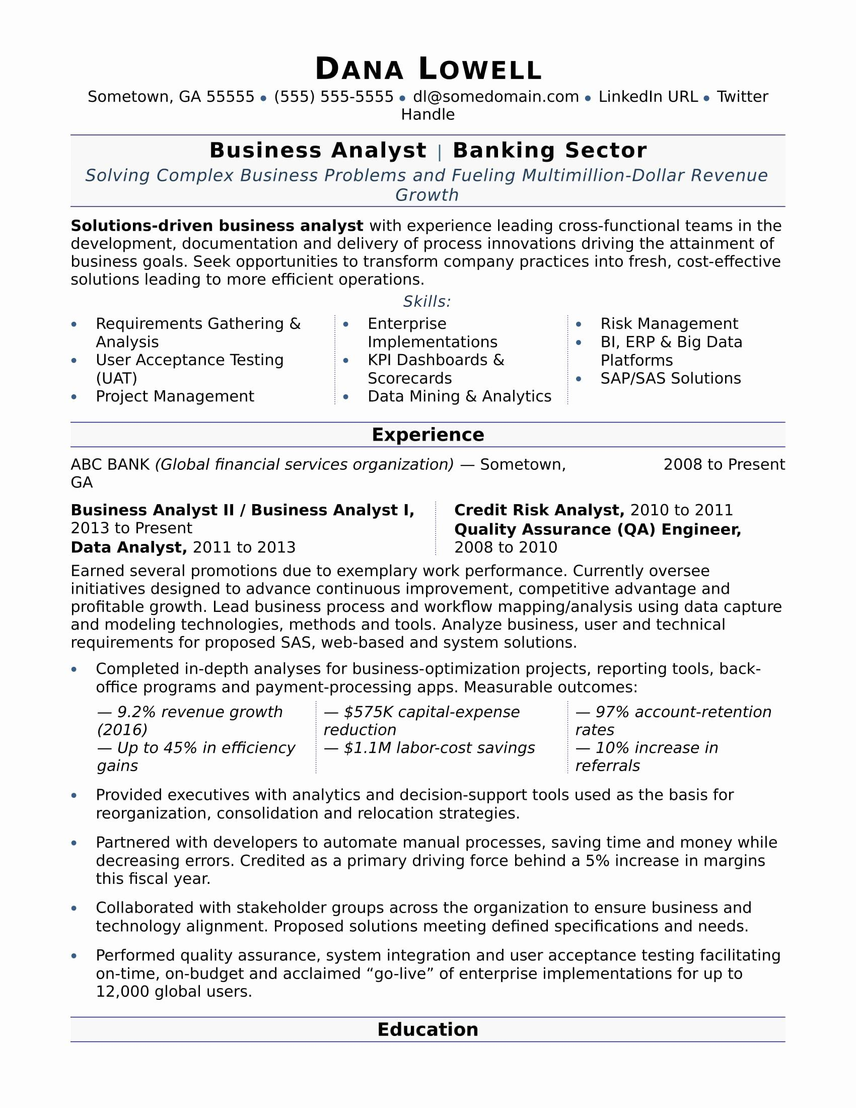 Small Business Mission Statement Examples In 2020 Business Analyst Resume Business Analyst Teacher Resume Examples